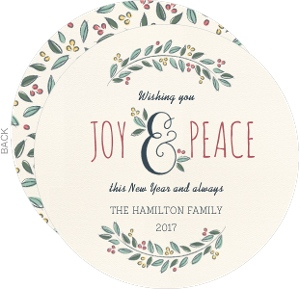Berry Foliage New Years Card