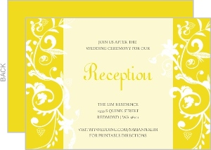 Bright Yellow And White Enclosure Card