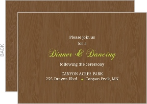 Brown And Green Love Birds Wedding Enclosure Card