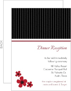 Black White And Pink Cherry Blossom Wedding Enclosure Card
