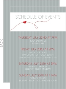 Red And Gray Journey Wedding Enclosure Card