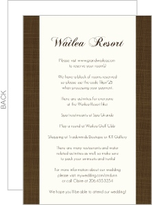 Elegant Textured Brown Enclosure Card