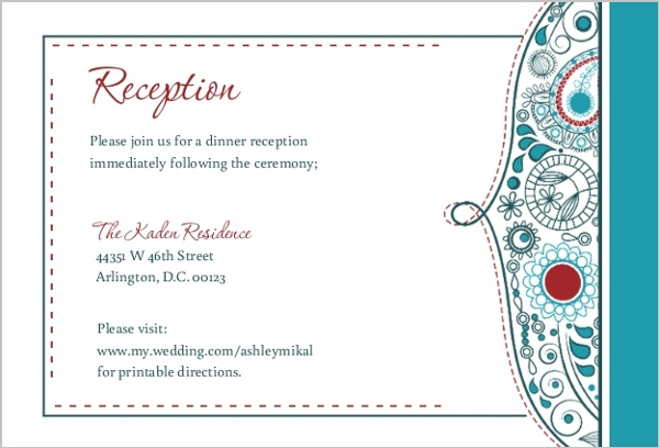 Whimsical Romance Reception Card