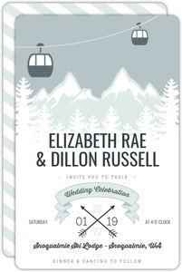 Whimsical Winter Mountains Wedding Invitation