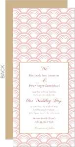 Blush Pink Art Deco Pattern Wedding Invitation