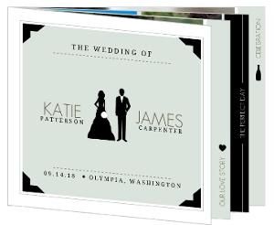 Modern Infographic Wedding Invitation