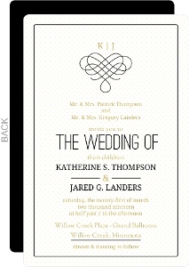 Gold Polka Dots Wedding Invitation