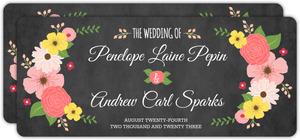 Chalkboard Country Floral Wedding Invitation