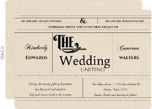 Western Love  Wedding Invitation