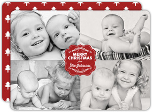 Simple Four Picture Holiday Photo Card