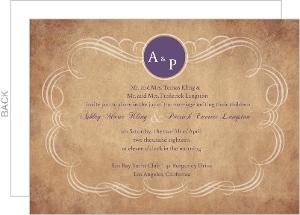 Rustic Paper Swirl Wedding Invite