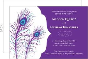 Elegant Peacock Wedding Invite