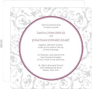Wine Garden  Wedding Invitation