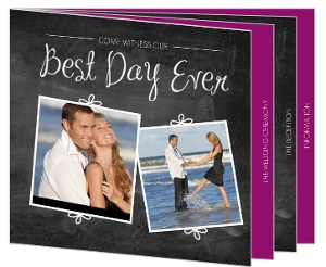 Chalkboard Booklet Wedding Invitation