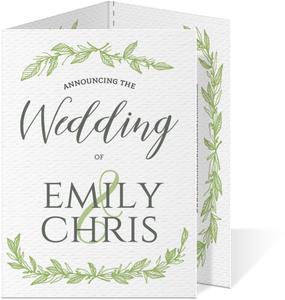 Green Spring Pattern Wedding Invite