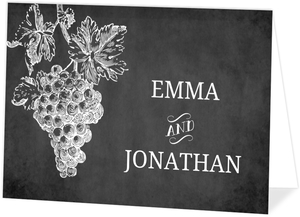 Chalkboard Vintage Winery Wedding Invitation