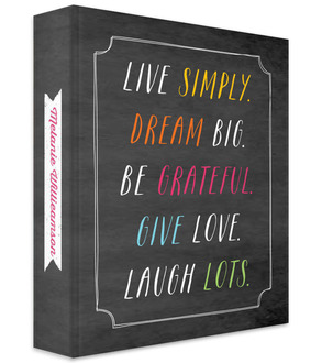 Live Simply 3 Ring Binder