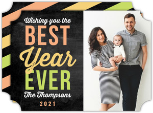 Bright Best Year Every Photo New Years Card
