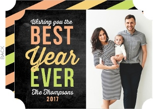Bright Best Year Ever Photo New Years Card