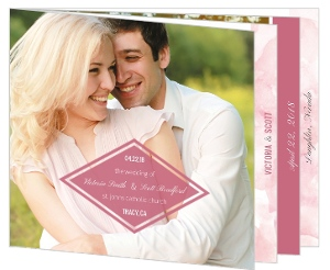 Delicate Pink Watercolor Wedding Program