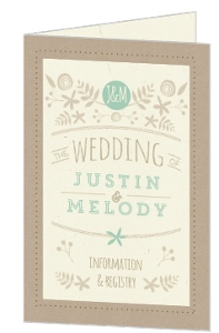 Rustic Mint and Kraft Wedding Program Card