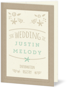 Rustic Mint and Kraft Wedding Program