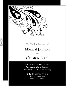Modern Peacock  Wedding Program
