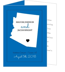 Personalized State Wedding  Program