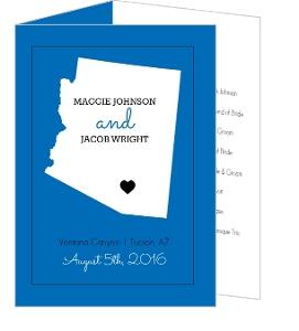 Personalized State Wedding  Program