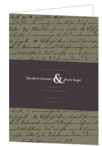 Plum and Sage Script  Wedding Program