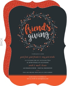 Whimsical Wreath Friendsgiving Party Invitation