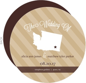 Mocha Brown Modern Statement Wedding Program