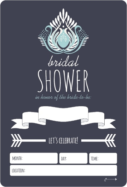 Something blue fill in the blank bridal shower invitation for Bridal shower fill in invitations