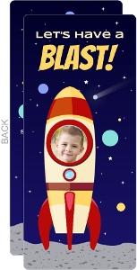 Rocket Ship Space Birthday Party Invitation