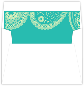Teal Yellow Western Paisley Liner