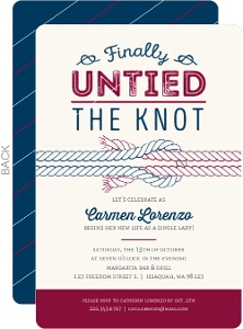 Finally Untied The Knot Divorce Party Invitation