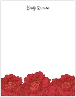 Red Flowers Paper Pack