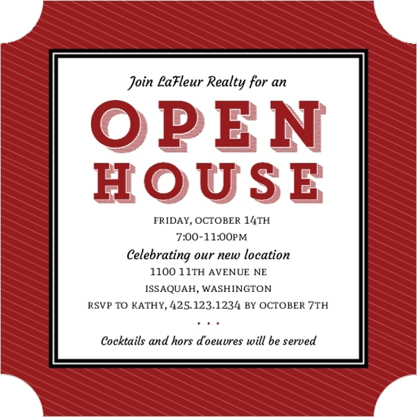 Block Type Corporate Open House Invitation | Business Open ...