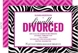 Divorce Announcements Invitations
