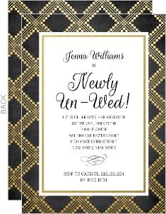 Newly Unwed Divorce Party Invitation