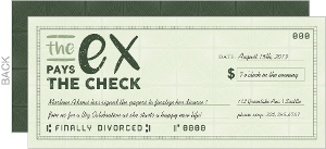 The Ex Pays The Check Divorce Party Invitation