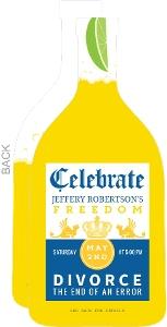 Beer Bottle Divorce Party Invitation