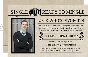 Extra Extra Newspaper Divorce Photo Announcement