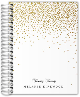 Golden Faux Glitter Confetti Mom Planner