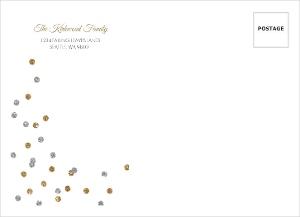 Elegant Faux Glitter Dotted Envelope