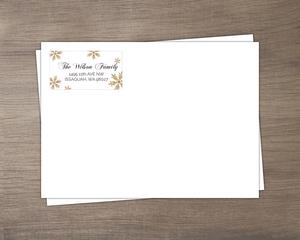 Snowflake Lantern Holiday Custom Envelope