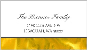 Elegant Faux Gold Foil Address Label