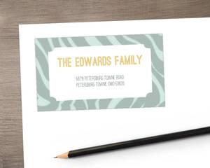 Zebra Print Holiday Address Label
