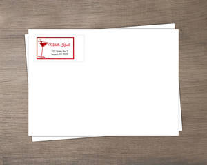 Modern Faux Red Foil Holiday Envelope