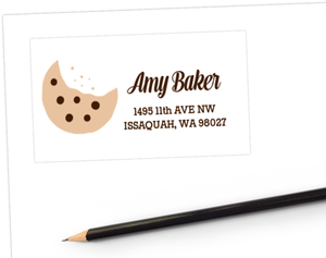 Cookie Bite Address Label